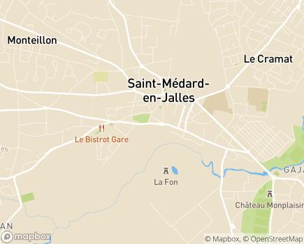 Localisation ADHM - Association d'Aide à Domicile du Haut-Médoc - SPASAD - 33160 - Saint-Médard-en-Jalles