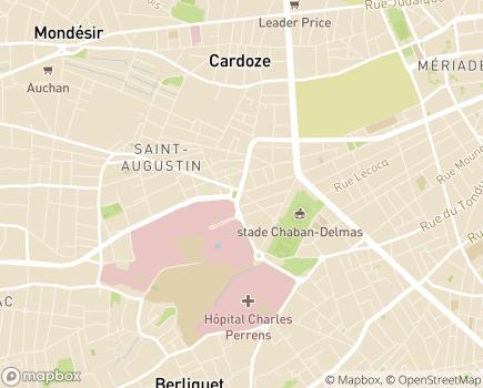 Localisation Hôpital Pellegrin - CHU de Bordeaux - 33076 - Bordeaux
