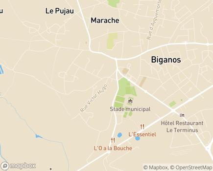 Localisation EHPAD Résidence Les Magnolias - 33380 - Biganos