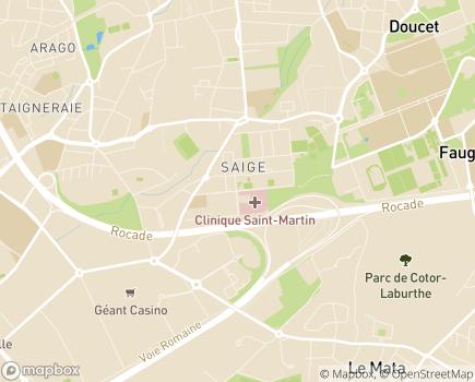Localisation Hôpital Privé Saint-Martin - 33608 - Pessac