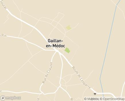Localisation AAPAM - 33340 - Gaillan-en-Médoc
