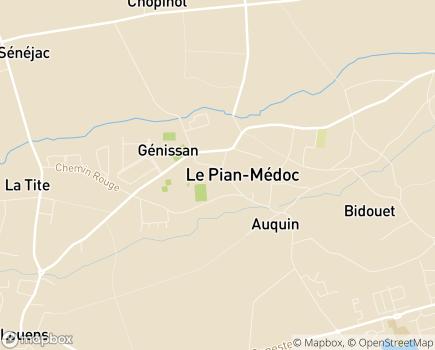 Localisation AAPAM - 33290 - Le Pian-Médoc