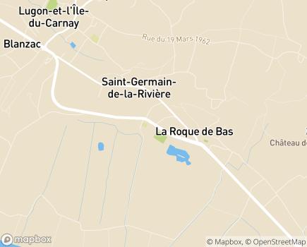 Localisation Service Social de la CDC du Fronsadais - RPDAD - UDCCAS - 33240 - Saint-Germain-de-la-Rivière