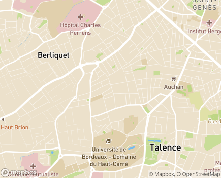 Localisation AG+SERVICES - 33400 - Talence