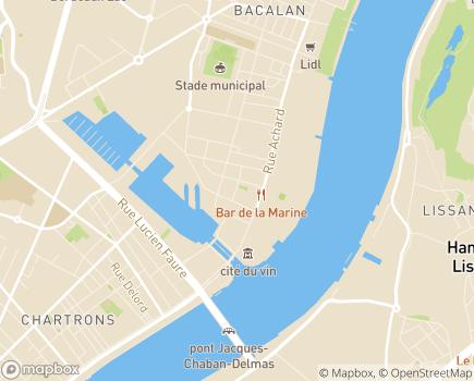 Localisation Domitys Le Millésime - Résidence avec Services - 33300 - Bordeaux