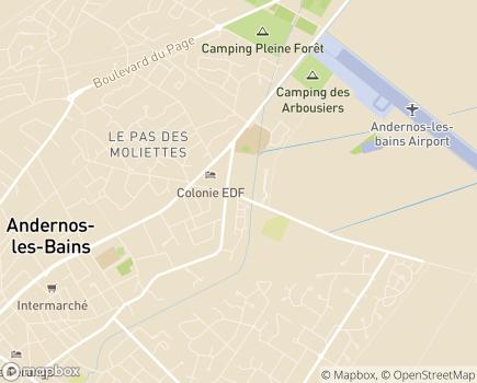 Localisation EHPAD Résidence La Villa des Pins - 33510 - Andernos-les-Bains