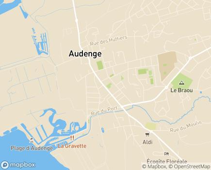 Localisation Résidence avec Services Les Girandières Coeur du Bassin - 33980 - Audenge