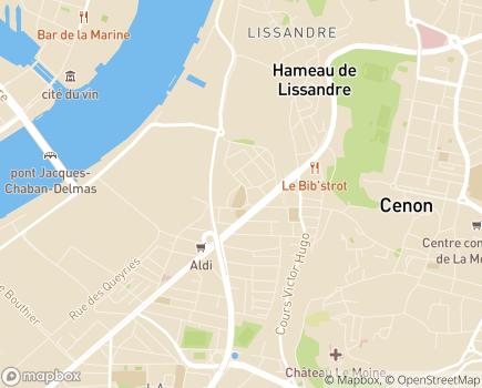 Localisation Résidence avec Services Les Girandières - 33150 - Cenon