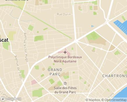 Localisation Polyclinique Bordeaux-Nord Aquitaine - 33077 - Bordeaux