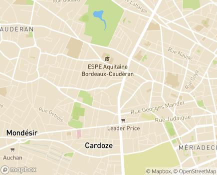Localisation Foyer de Post Cure Centre de Réadaptation - 33200 - Bordeaux
