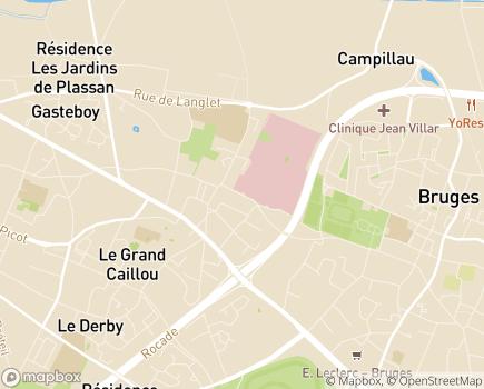 Localisation Centre de Médecine Physique et de Réadaptation de la Tour de Gassies (CMPR) - 33520 - Bruges