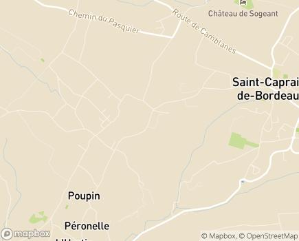 Localisation Clinique Les Horizons - 33880 - Cambes