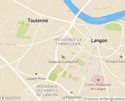Localisation Résidence Autonomie Lou Bel Oustaou (Logements Foyer) Énéal/CCAS - 33210 - Langon