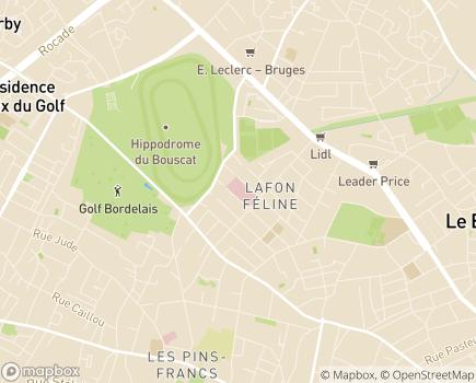 Localisation Hôpital Suburbain du Bouscat - 33110 - Le Bouscat
