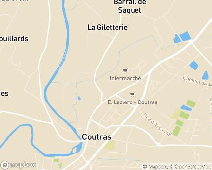 Localisation Résidence Autonomie Hameau de la Croix Rouge (Logements Foyer) Énéal/CCAS - 33230 - Coutras