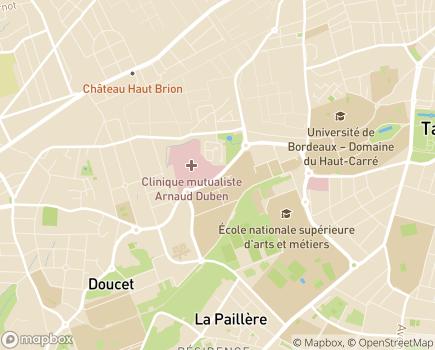 Localisation Clinique Mutualiste de Pessac - 33608 - Pessac