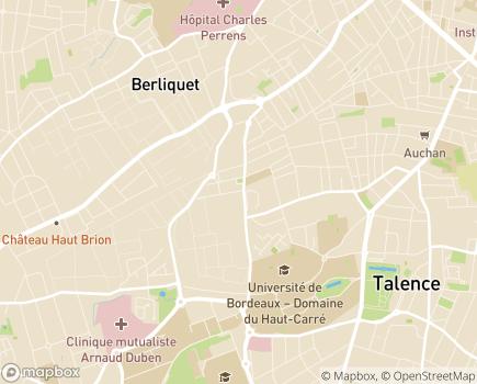 Localisation Centre Hospitalier Universitaire de Bordeaux - 33404 - Talence