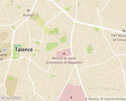 Localisation Maison de Santé Protestante de Bordeaux Bagatelle - 33401 - Talence