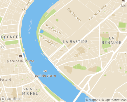 Localisation Unité Résidence Thérapeutique Marc Blanc - 33300 - Bordeaux