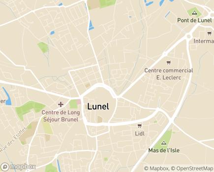 Localisation Association ORIALYS (anciennement AAMD) - 34400 - Lunel