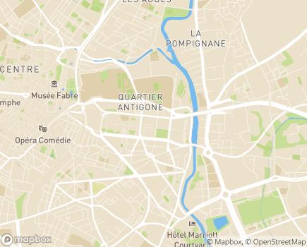 Localisation Age d'Or Services Hérault Méditerranée - 34000 - Montpellier