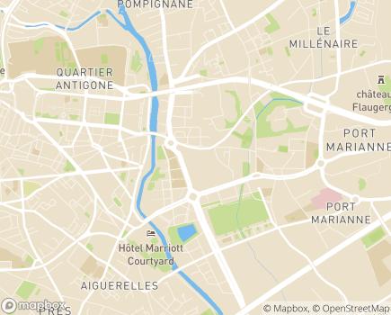 Localisation Résidence avec Services Les Hespérides de Lesplanade - 34000 - Montpellier