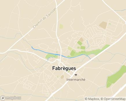 Localisation EHPAD L'Oustal de Mireille - 34690 - Fabrègues