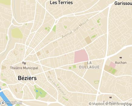 Localisation Béziers HAD, Établissement d'Hospitalisation à Domicile - 34500 - Béziers