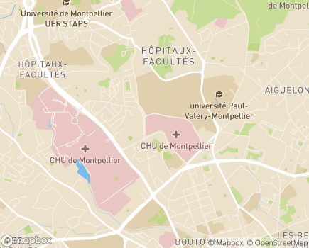 Localisation Hôpital Guy de Chauliac - 34295 - Montpellier
