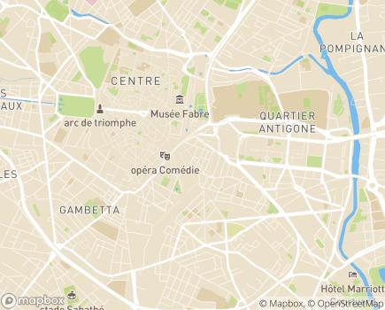 Localisation Résidence Coeur Comédie - 34000 - Montpellier