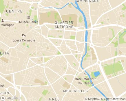 Localisation Résidence Services Seniors Villa d'Hélios Cogedim Club® - 34000 - Montpellier