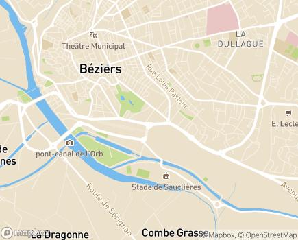 Localisation Citivie - Résidence Seniors des Poètes - 34500 - Béziers