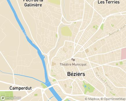 Localisation Domitys La Majolique - Résidence avec Services - 34500 - Béziers