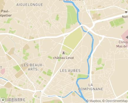 Localisation Résidence Services Séniors l'Orangerie du Château Levat - 34000 - Montpellier