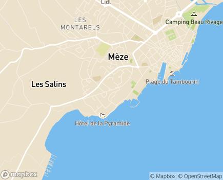 Localisation Résidence avec Services Les Girandières - 34140 - Mèze
