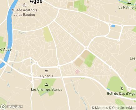 Localisation Domitys Basaltik - Résidence avec Services - 34300 - Agde