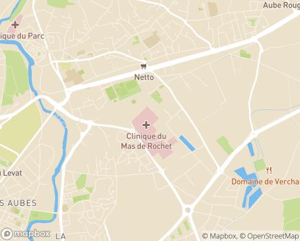 Localisation Clinique Médicale Mas de Rochet - 34172 - Castelnau-le-Lez