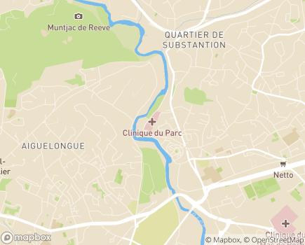 Localisation Clinique du Parc - 34170 - Castelnau-le-Lez