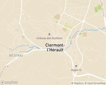Localisation Résidence Léon Ronzier Joly EHPAD - 34800 - Clermont-l'Hérault