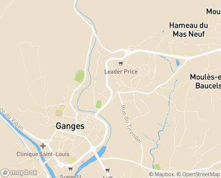 Localisation EHPAD Public Le Jardin des Aînés - 34190 - Ganges