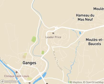 Localisation EHPAD Maison de Retraite Les Dominicaines - 34190 - Ganges