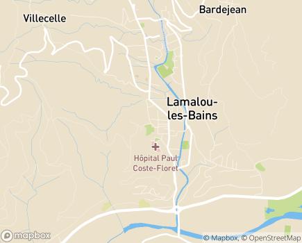 Localisation Centre de Rééducation Fonctionnelle du Dr Jean Ster - 34240 - Lamalou-les-Bains