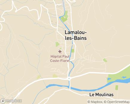 Localisation Centre Hospitalier Public Paul Coste Floret - 34240 - Lamalou-les-Bains