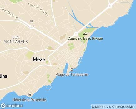 Localisation Centre Communal d'Action Sociale - 34140 - Mèze