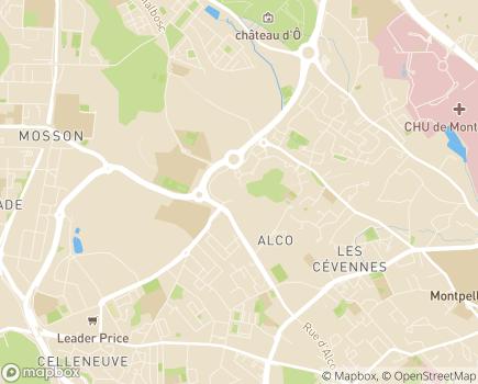 Localisation Conseil Départemental de l'Hérault - 34087 - Montpellier