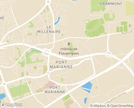 Localisation ARS Agence Régionale de Santé - Délégation départementale de l'Hérault - 34067 - Montpellier