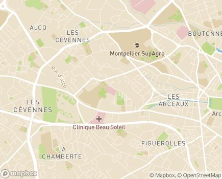 Localisation Clinique Clémentville - 34070 - Montpellier