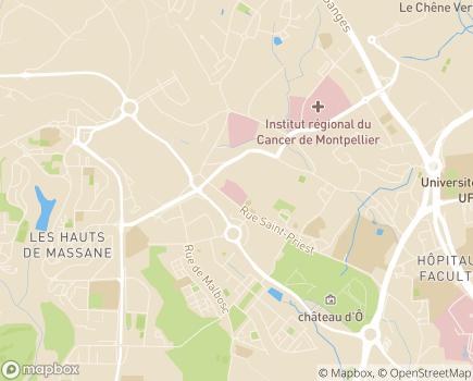 Localisation Clinique Fontfroide - 34097 - Montpellier
