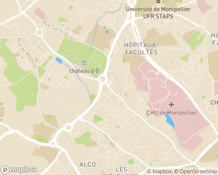 Localisation Maison d'Enfants Bon Secours - 34090 - Montpellier