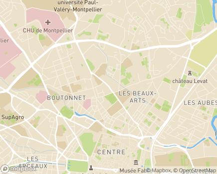Localisation Maison d'Enfants Marie Caizergues - 34090 - Montpellier